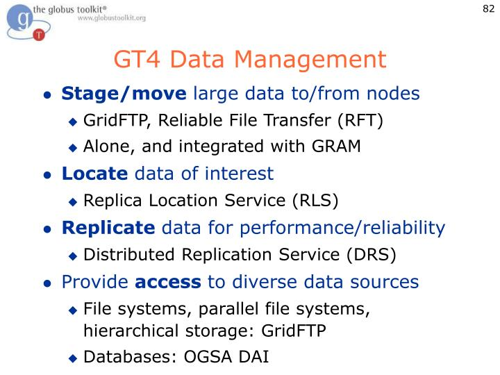 GT4 Data Management