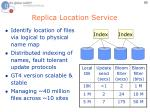 replica location service