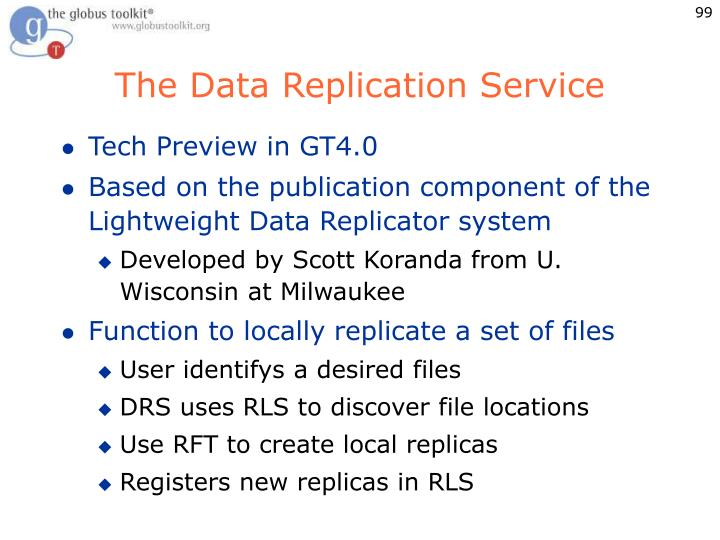 The Data Replication Service