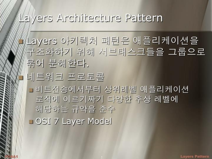 Layers architecture pattern