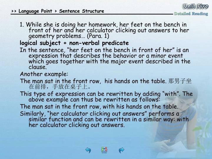 Detailed Reading-language points