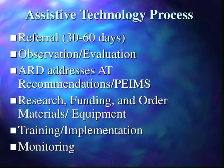 Assistive Technology Process