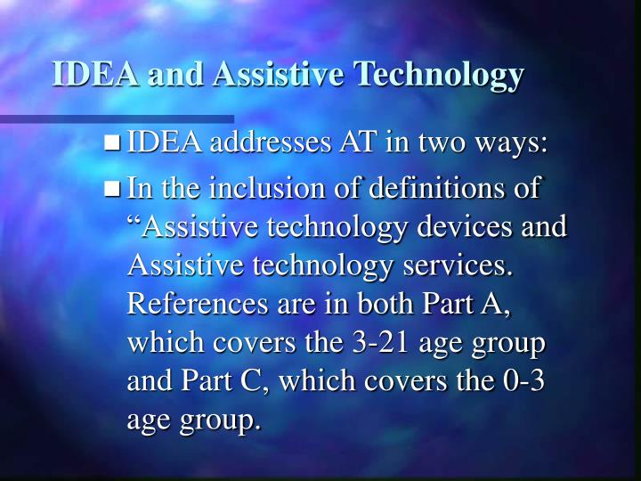 IDEA and Assistive Technology