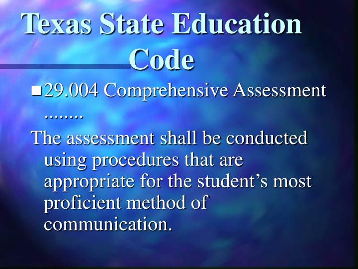 Texas State Education Code