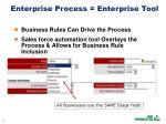 enterprise process enterprise tool