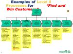 examples of level 4 processes for find and win customers