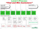level 3 process find and win customers