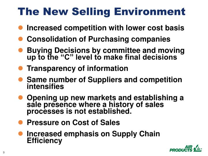 The New Selling Environment