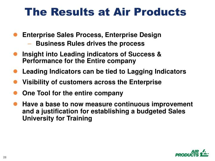 The Results at Air Products