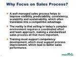 why focus on sales process