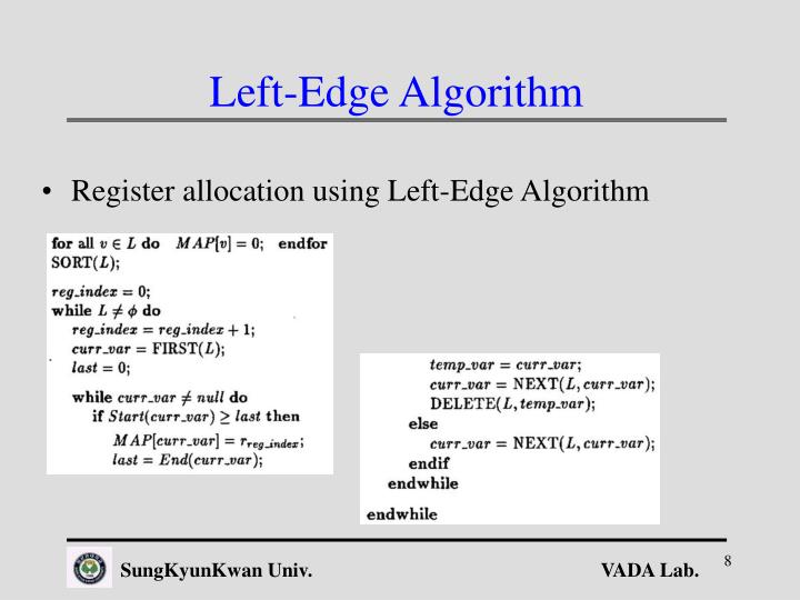 Left-Edge Algorithm