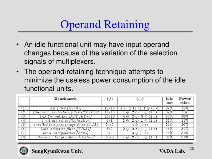 Operand Retaining