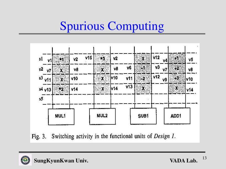 Spurious Computing