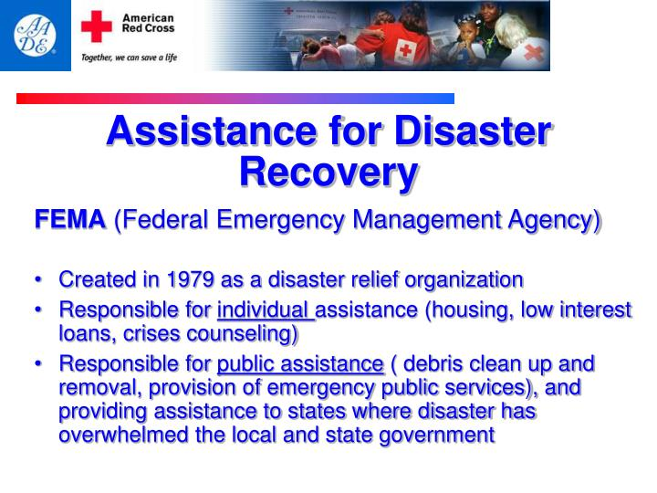 Assistance for Disaster