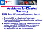 assistance for disaster recovery1
