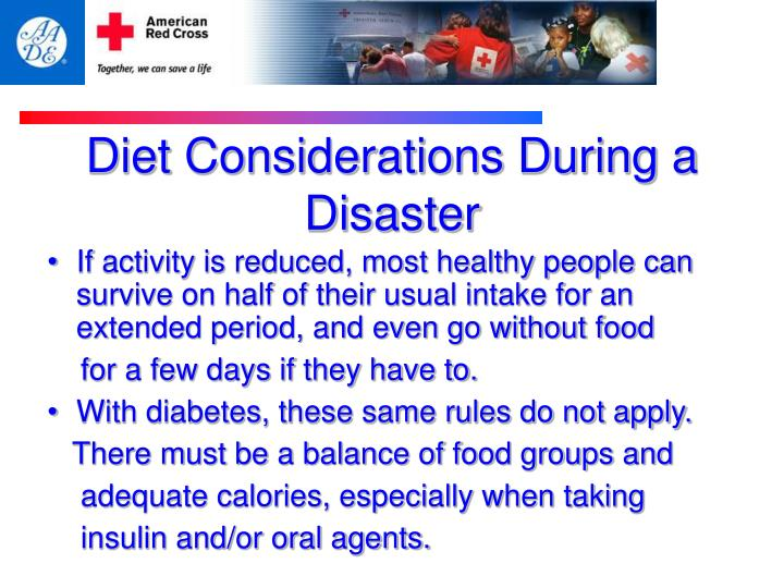 Diet Considerations During a Disaster