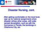 disaster nursing cont