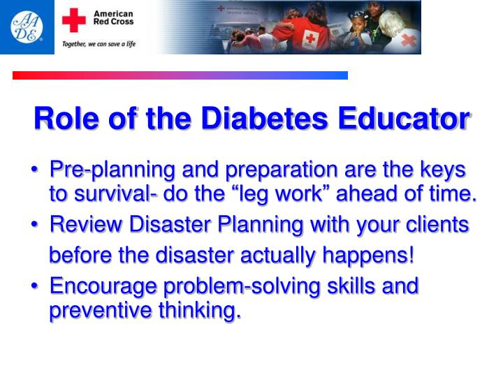 Role of the Diabetes Educator