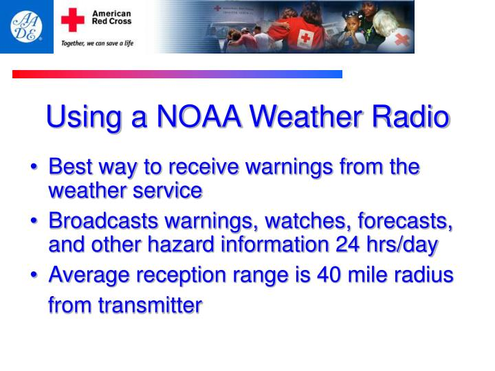 Using a NOAA Weather Radio