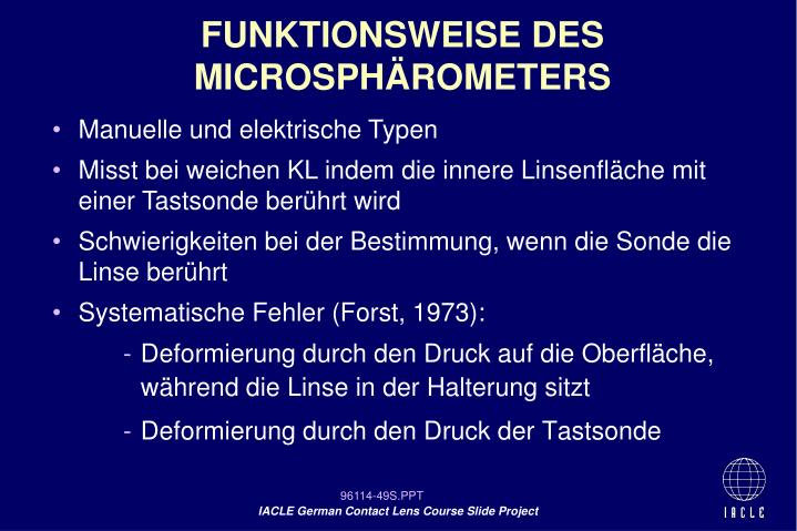 FUNKTIONSWEISE DES