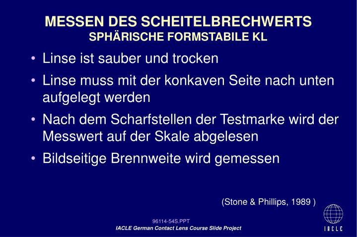 MESSEN DES SCHEITELBRECHWERTS