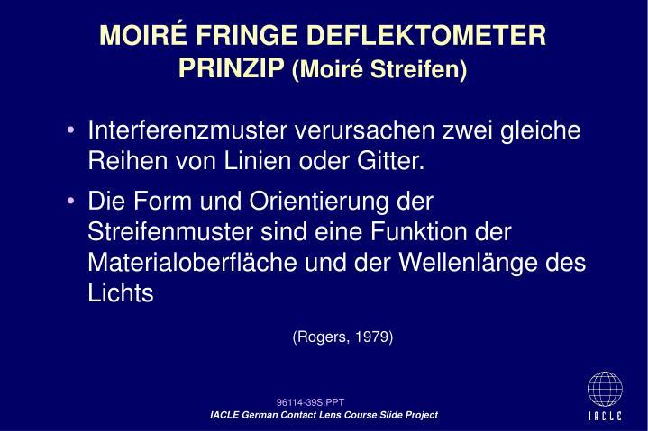 MOIRÉ FRINGE DEFLEKTOMETER