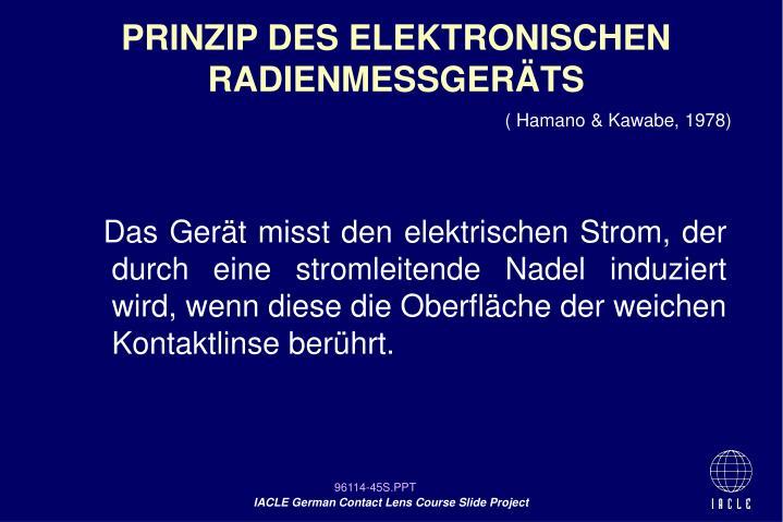 PRINZIP DES ELEKTRONISCHEN RADIENMESSGERÄTS