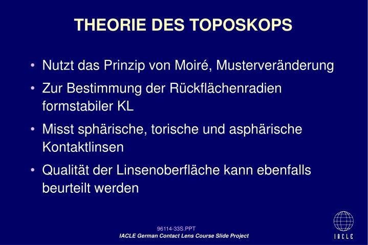 THEORIE DES TOPOSKOPS