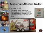 mass care shelter trailer