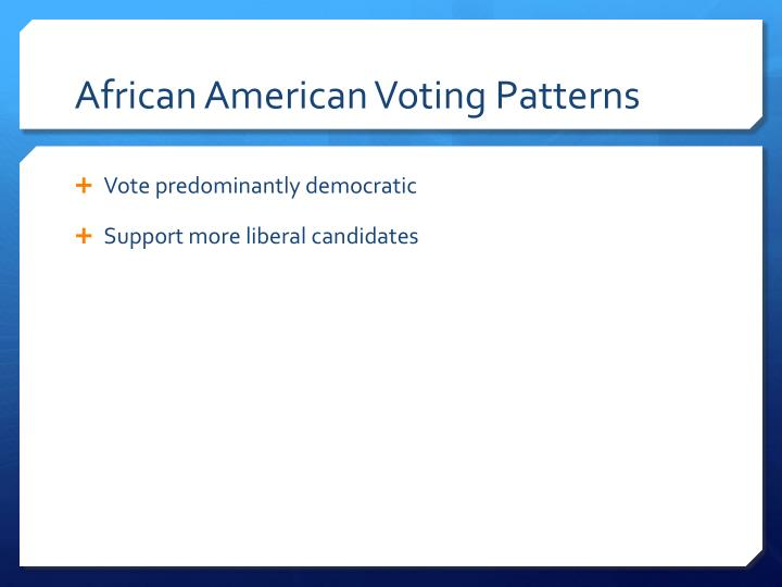 African American Voting Patterns