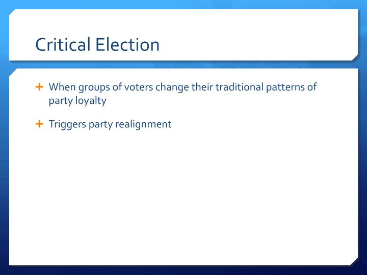 Critical Election
