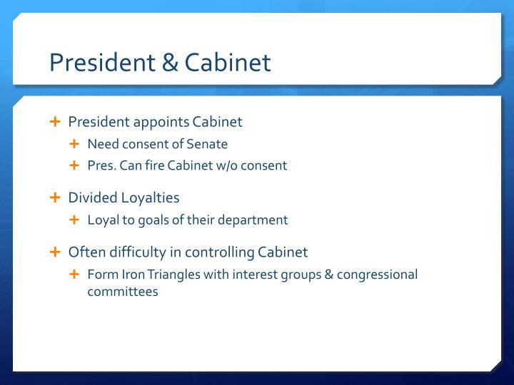 President & Cabinet
