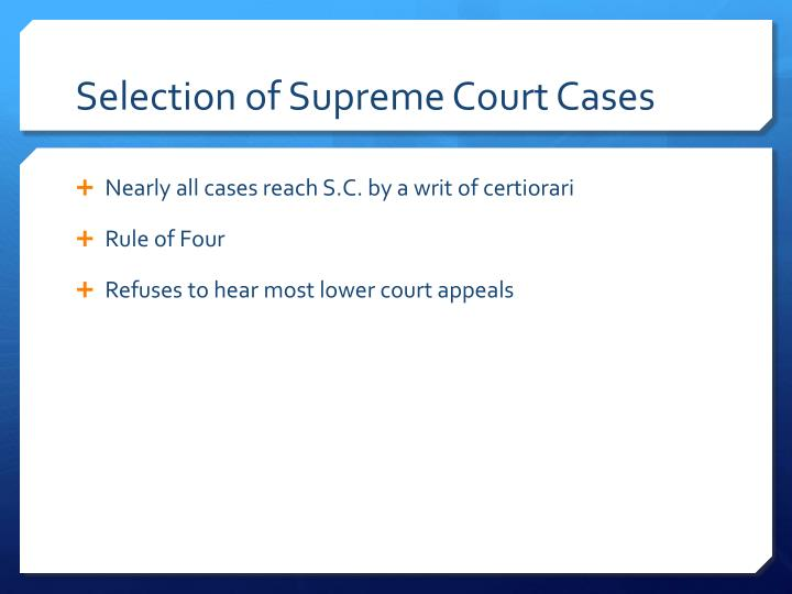 Selection of Supreme Court Cases