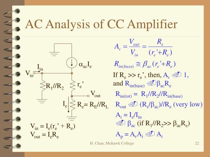 AC Analysis of CC Amplifier