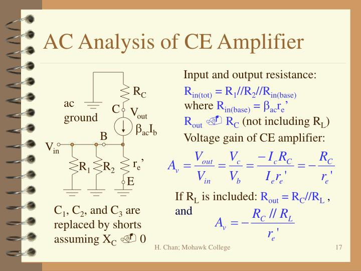 AC Analysis of CE Amplifier
