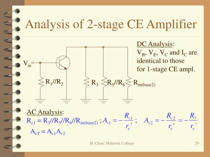 Analysis of 2-stage CE Amplifier