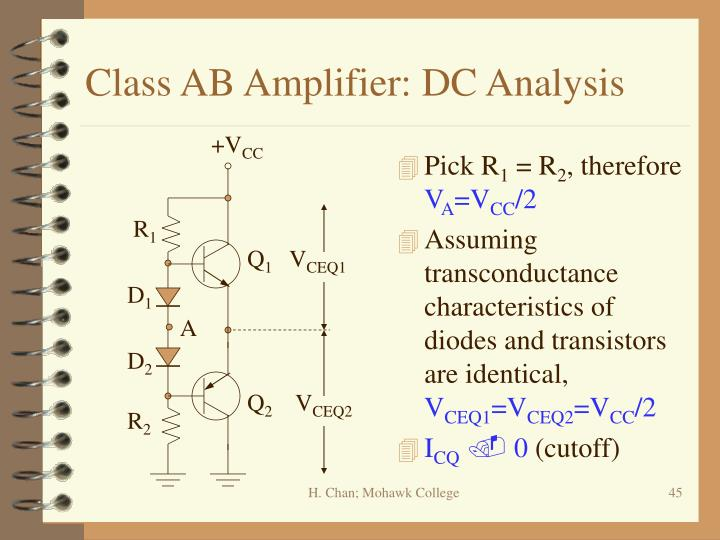 Class AB Amplifier: DC Analysis