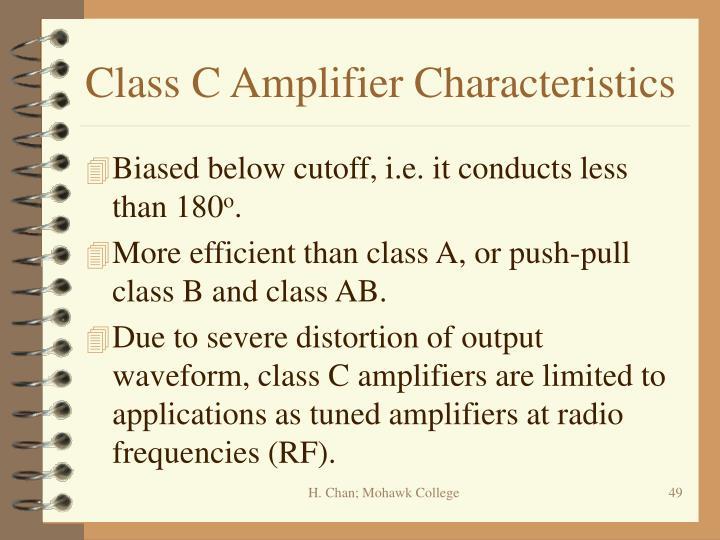 Class C Amplifier Characteristics
