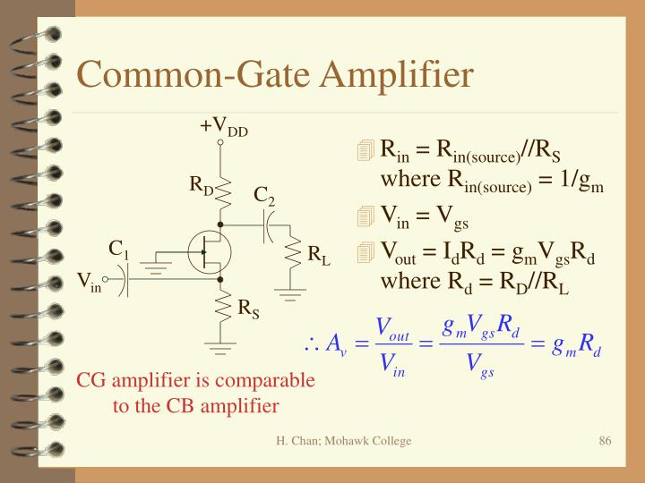 Common-Gate Amplifier