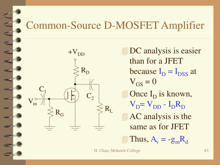 Common-Source D-MOSFET Amplifier