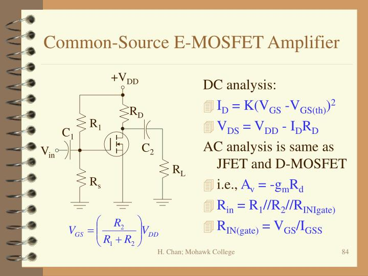 Common-Source E-MOSFET Amplifier