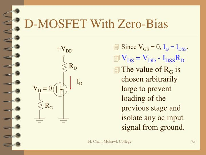 D-MOSFET With Zero-Bias