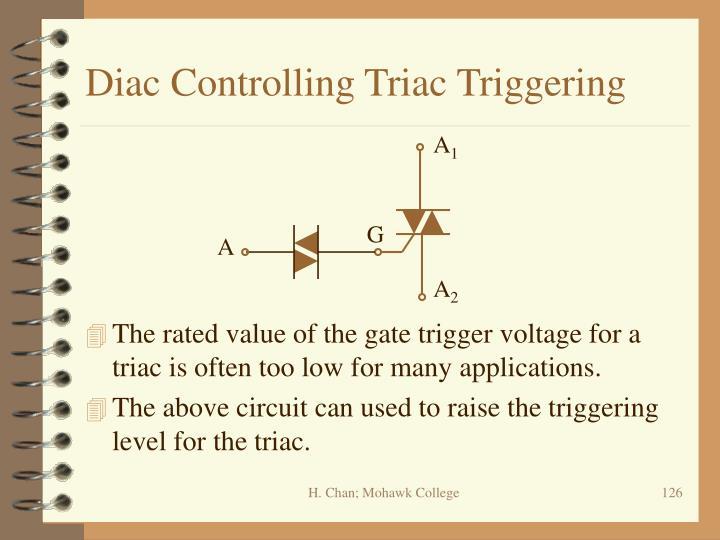 Diac Controlling Triac Triggering