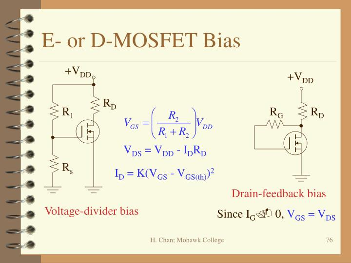 E- or D-MOSFET Bias