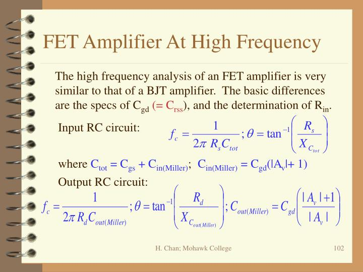FET Amplifier At High Frequency