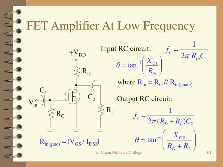 FET Amplifier At Low Frequency