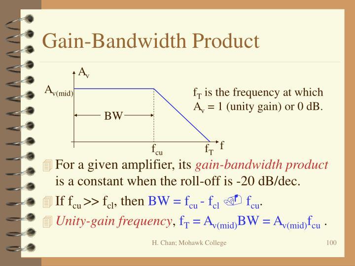 Gain-Bandwidth Product