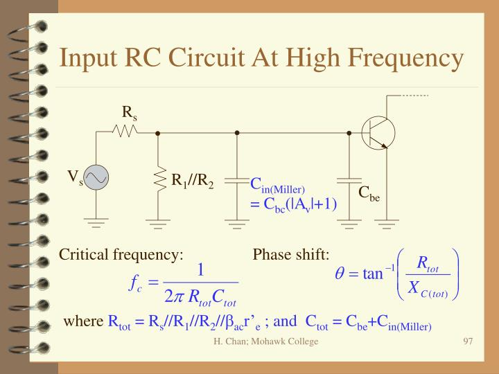 Input RC Circuit At High Frequency