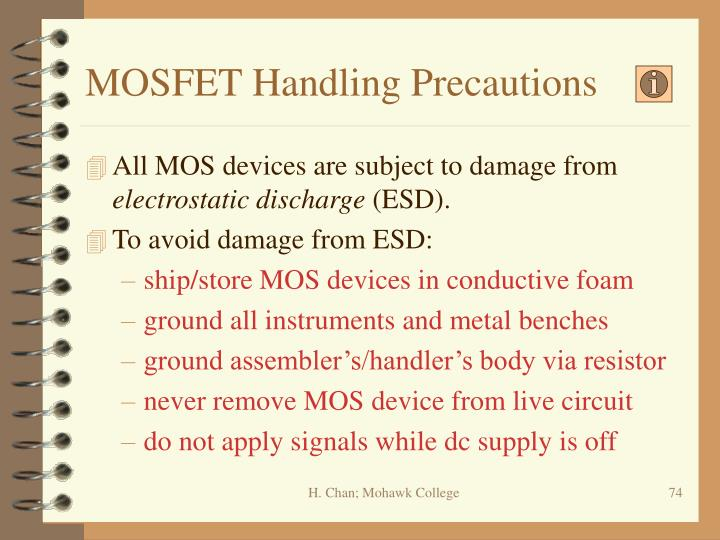 MOSFET Handling Precautions