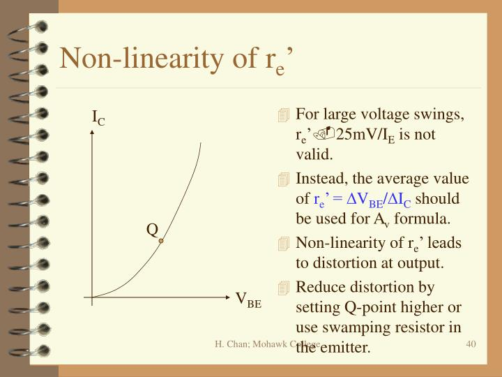 Non-linearity of r